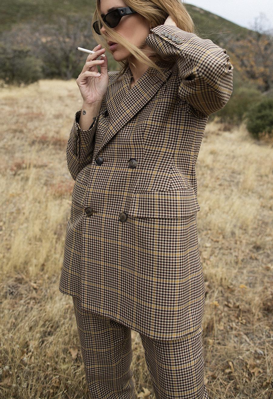 Native Fox - Jennifer Grace : Houndstooth - Photo 1: Balenciaga