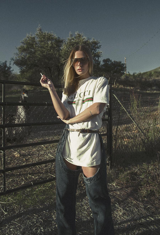Native Fox - Jennifer Grace : Giddy Up - Photo 2: Gucci, Loewe, Y/Project