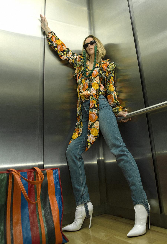 Native Fox - Jennifer Grace : Up - Photo 2: Balenciaga, Campaign, Editorial